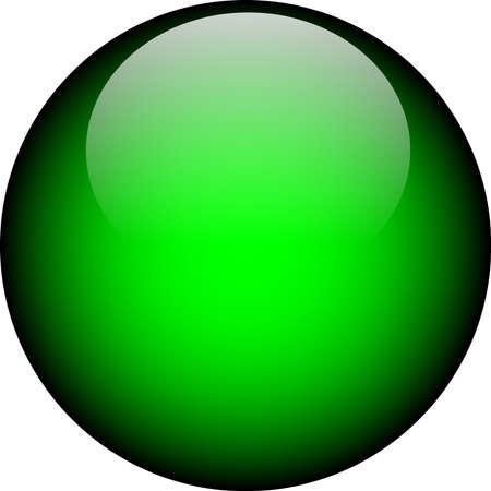Vector Green Glass Button Vector