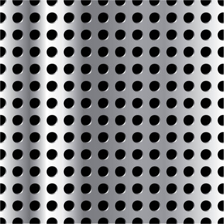 grid: Vector vertically repeatable metal grid