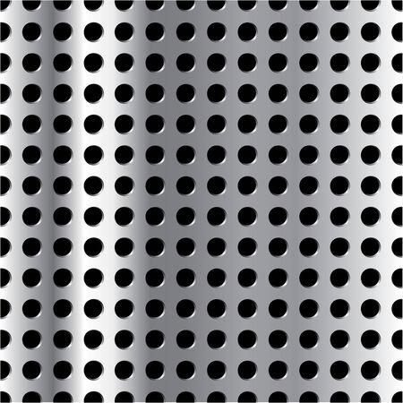 Vector vertically repeatable metal grid