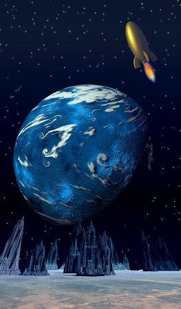 sci: Retro escena de ciencia ficci�n