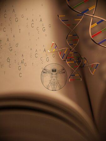 genomes: Book of Life: Genetics Stock Photo