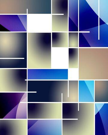 kandinsky: Rectangular Abstract