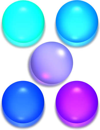 opalescent: Glossy Spheres or buttons