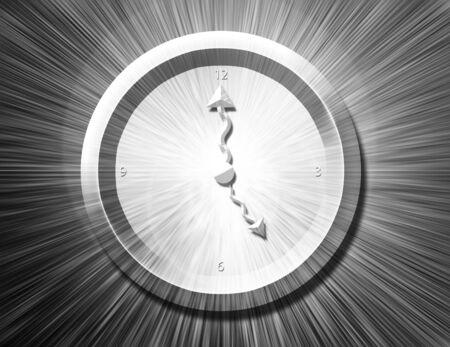 bw: BW Clock Burst Stock Photo