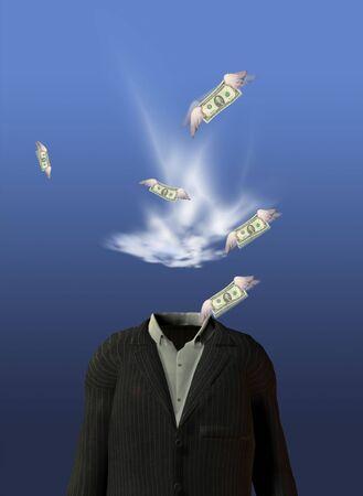 account executive: Surreal man Stock Photo