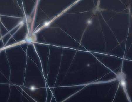 脳細胞の図 写真素材