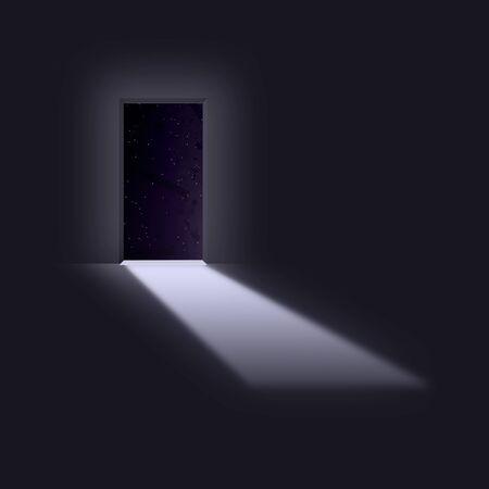 opens: Doorway opens to space