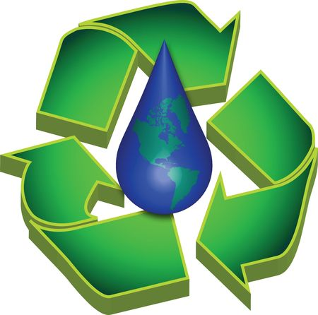renewal: Recycle Earths Water Stock Photo