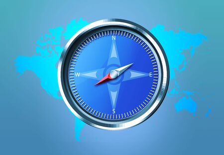 Compass And World Map Stock Photo - 3363353
