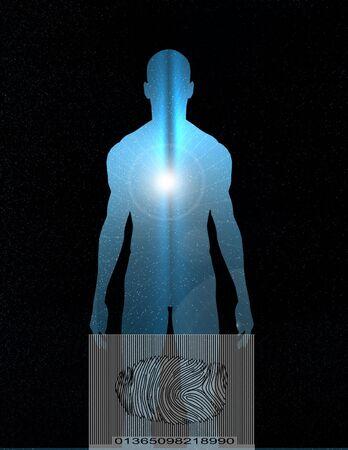 criminal: Tech Human identity Stock Photo