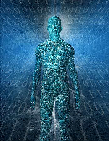 dataflow: Tech Humanoid Stock Photo