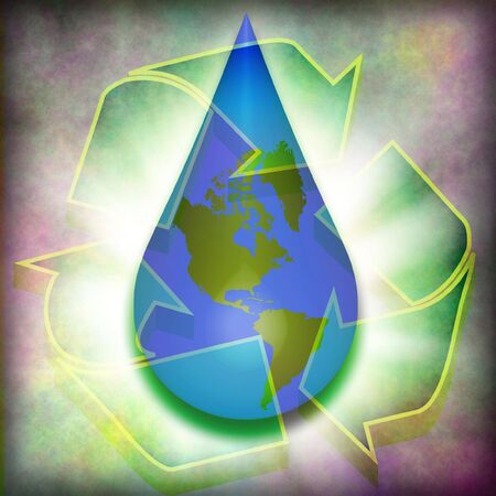 Recycle earth water Stock Photo - 3400561