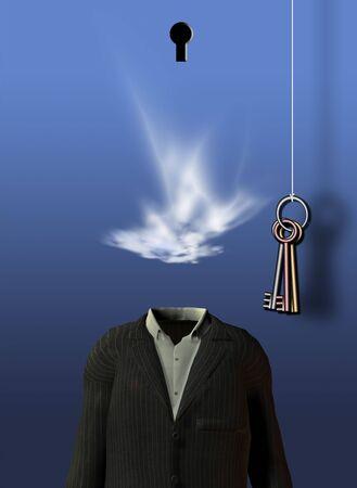 空のスーツの夢のシーン 写真素材