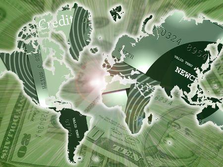 accounting logo: World Credit Stock Photo