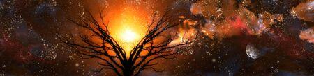 Amber fantasy landscape