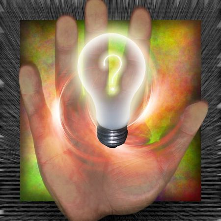 Question bulb photo