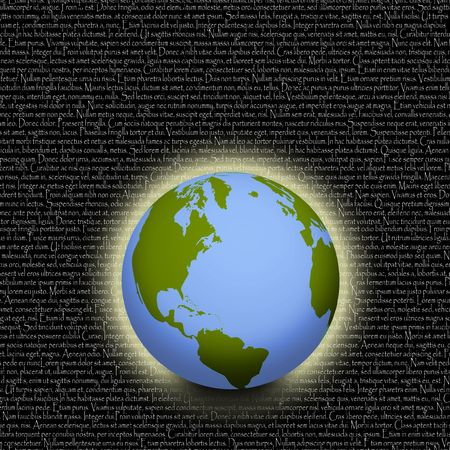 Earth with Latin background Stock Photo - 3491318