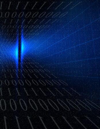 Blue Binary photo