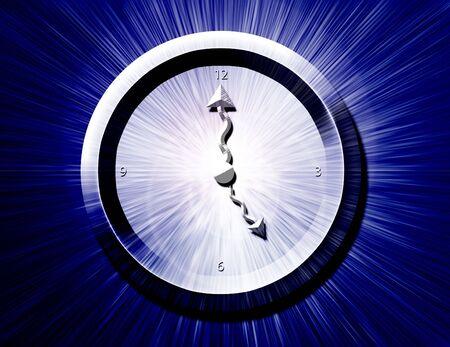 BW Clock Burst Banco de Imagens
