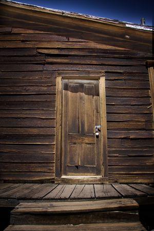 Door on cabin photo