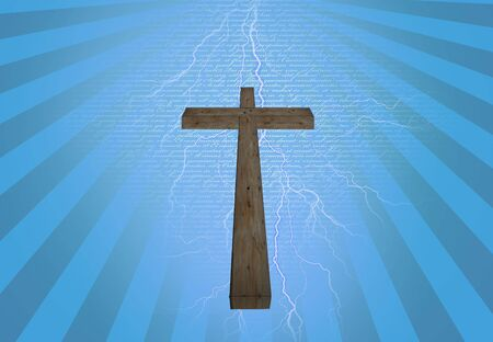 new testament: Cross with new testament