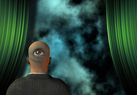 morose: Surreal Stage Stock Photo