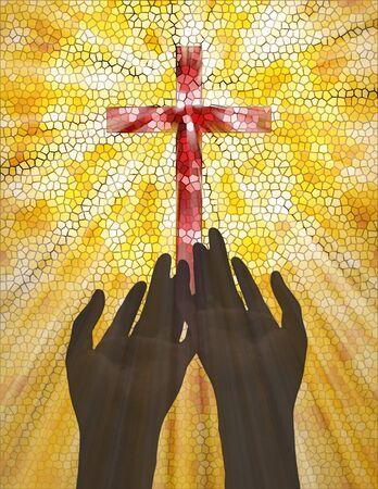praise and worship:  Praising Stock Photo