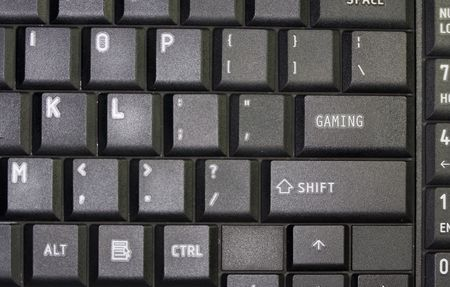 Keyboard with text Gaming Stock Photo