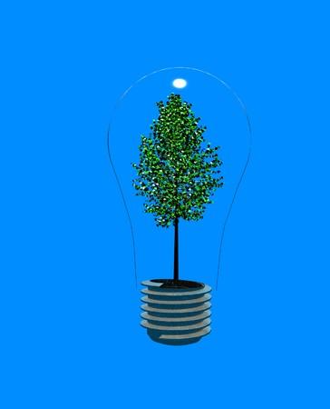 Tree in light bulb Stock Photo - 4012132
