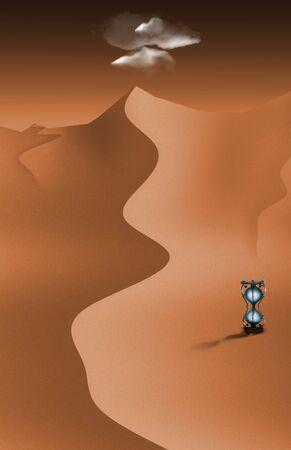 morning blue hour: Desert metaphor Stock Photo