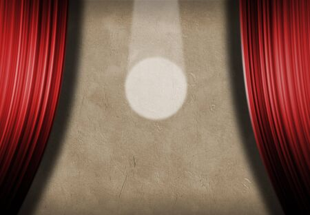 speaker icon: Spotlight and curtains Stock Photo