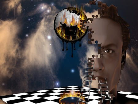 sci fi: Surreal Composition Stock Photo