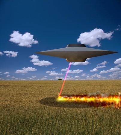 lazer: Alien Burning landscape