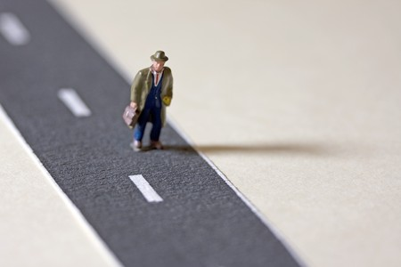 Businessman on Path photo