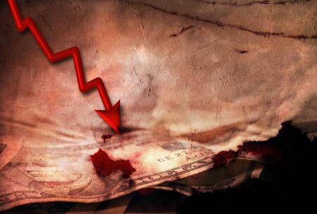 downturn: Economic Downturn abstract Stock Photo