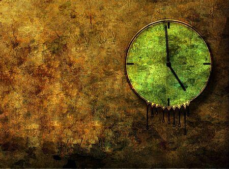 Grunge Melting Clock photo