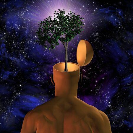 visual perception: Eco-mind Stock Photo