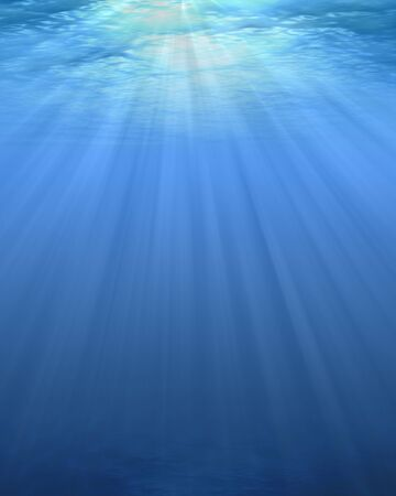 ray of light: Underwater Illustration