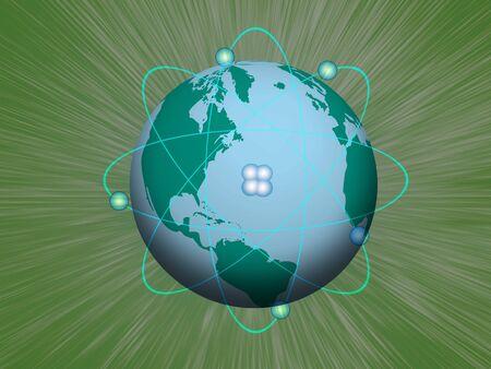 nuke: Nuclear Earth Stock Photo