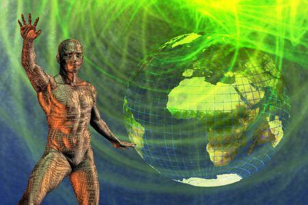 Earth Abstract Tech Man Stock Photo - 4454642