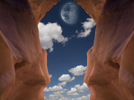 Desert Rock and sky