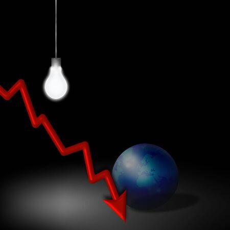 downturn: Economic Downturn Idea Stock Photo