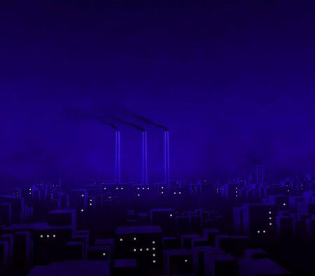 Blue City Night photo
