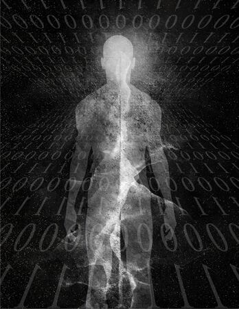 spirtual: Binary Man Abstract