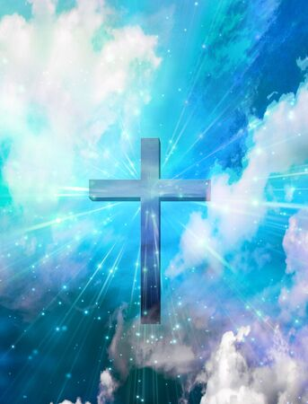 heaven: Cross Stock Photo