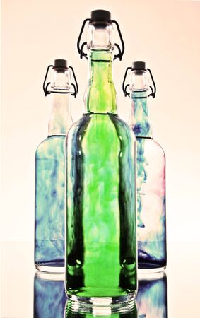 High Key Bottles and Color photo