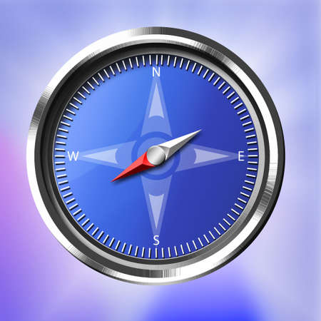 Silver and Blue Compass Stock Photo - 4772782