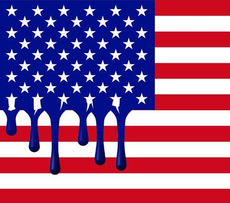 flag: Melting USA Flag Stock Photo