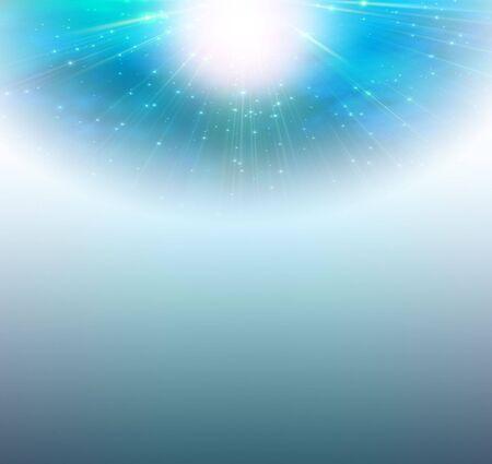 radiating: Sfondo blu di luce che irradia