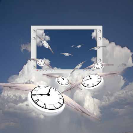 Clocks and Flat Panel Banco de Imagens